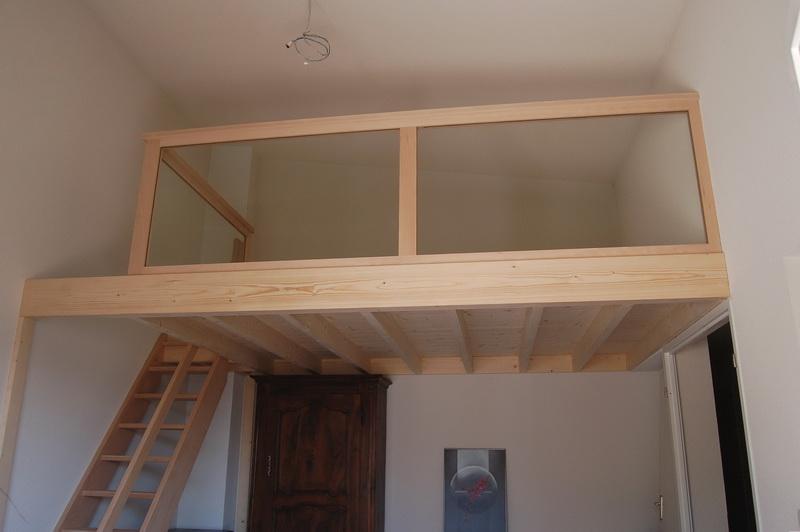 Garde corps verre bois scierie menuiserie mombert - Lit mezzanine 2 places avec plateforme ...