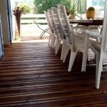 Terrasse bois teinté